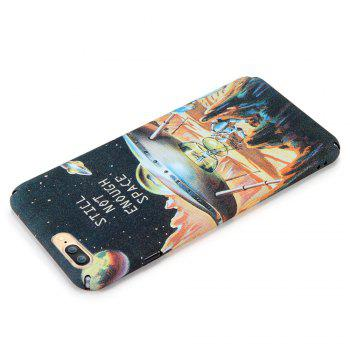 Space Series Pattern Phone Case for iPhone 7 Plus / 8 Plus - BROWN