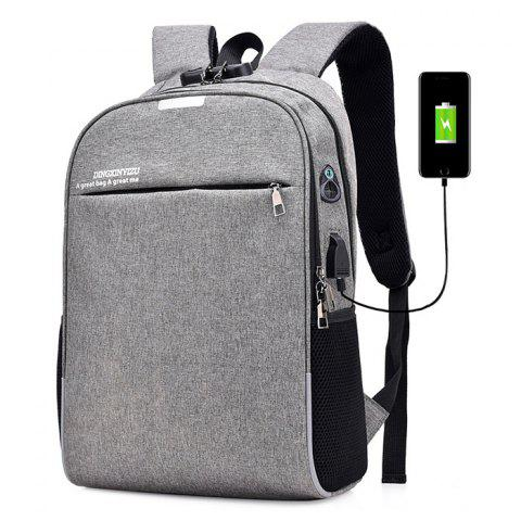 Minimalist Anti-theft Lock Laptop Backpack with USB Port for Men - GRAY