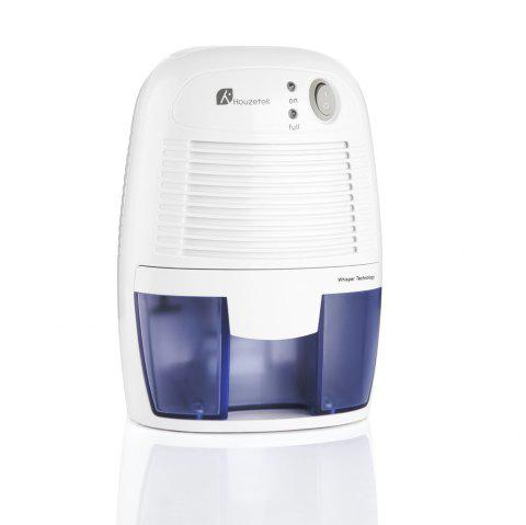 HOUZETEK Portable Dehumidifier with 500ml Water Tank - WHITE / BLUE UK PLUG