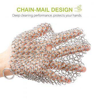 zanmini ZH06 Hexagon Stainless Steel Chainmail Scrubber - STAINLESS STEEL