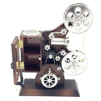 Movie Projector Plastic Music Box - BROWN BROWN