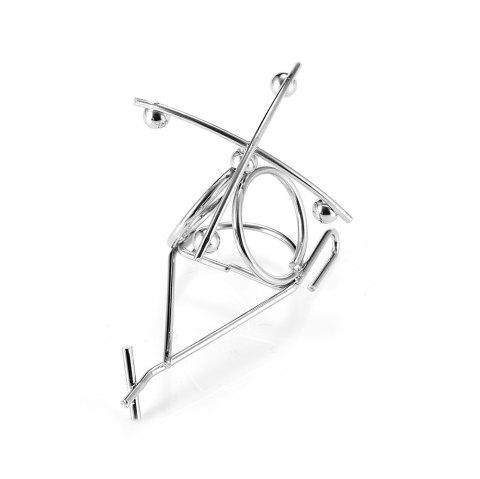 Small Iron Helicopter for Table Decoration - SILVER