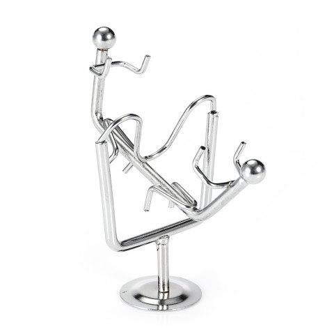Dynamic Balancing Seesaw Man Pendulum Metal Physical Desktop Toy - SILVER