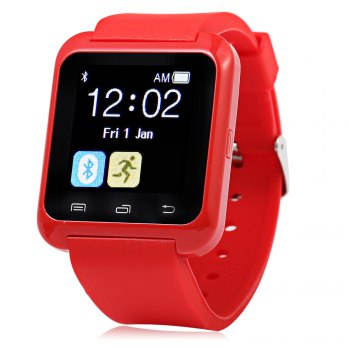 U8 Smart Watch with Pedometer Function - RED RED