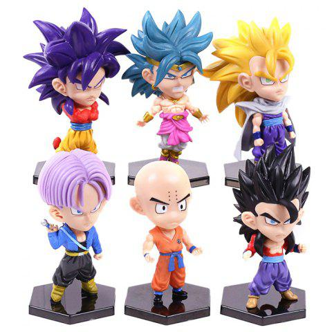 Cartoon Action Figure Hero Doll Model Gift Toy 6pcs - COLORMIX