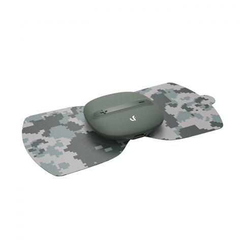 LERAVAN Mi Home Electrical TENS Pulse Therapy Massage Machine Acupuncture Snap-on Electrode Pads Body Patch - ARMY GREEN CAMOUFLAGE