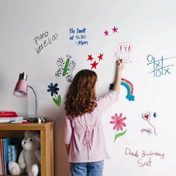 DIY Wall Stickers Removable Washable White Board Decals - WHITE WHITE