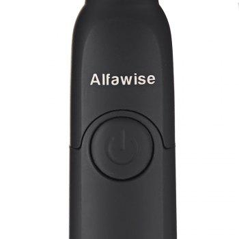 Alfawise SG - 949 Sonic Electric Toothbrush with Smart Timer Five Brushing Modes Waterproof with 3 Brush Heads - BLACK