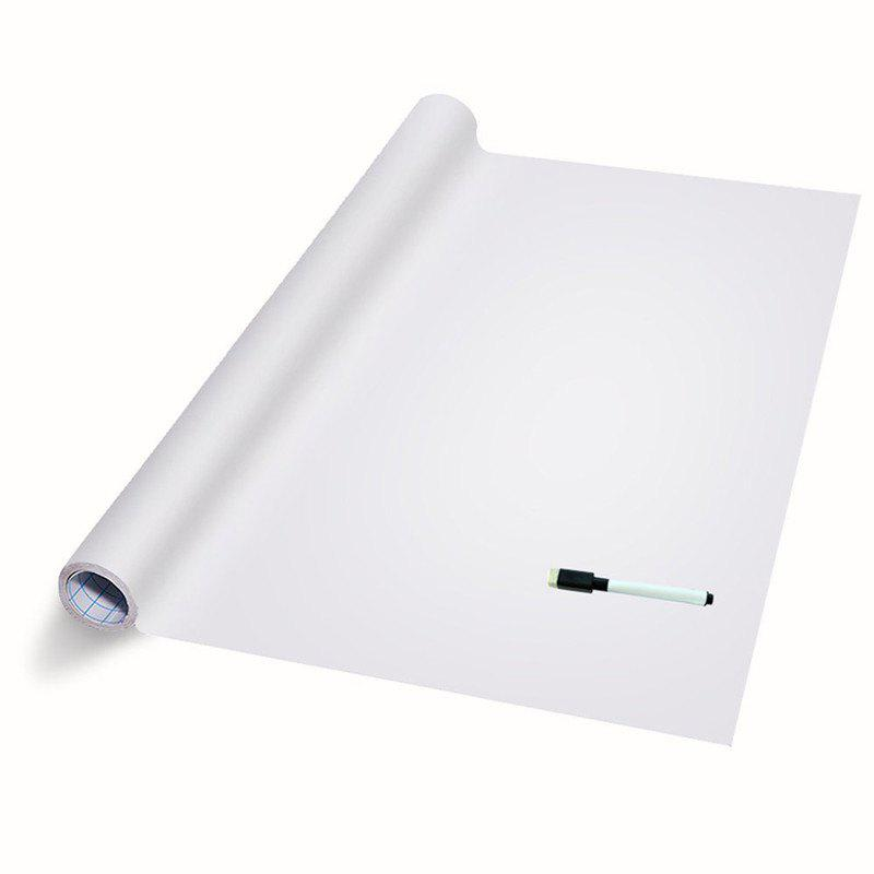DIY Wall Stickers Removable Washable White Board Decals - WHITE