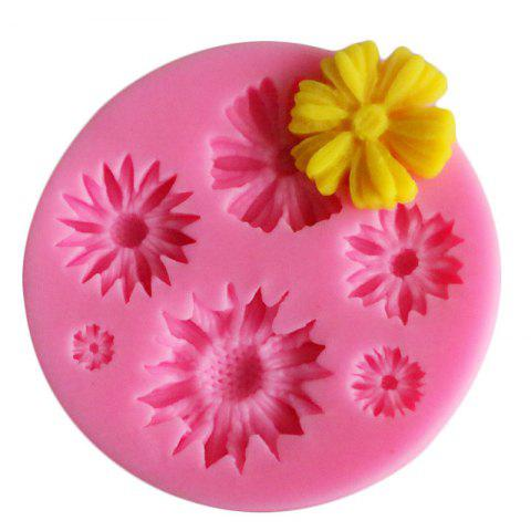 facemile Sunflower Cake Candy Chocolate Soap Silicone Mold - PINK