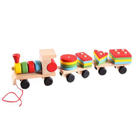 Environmental Protection Early Education Toy Train Building Block - COLORMIX