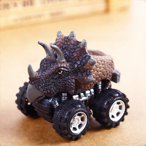 Fun Children Dinosaur Pull Back Car Model Toy 1pc - COLORMIX A
