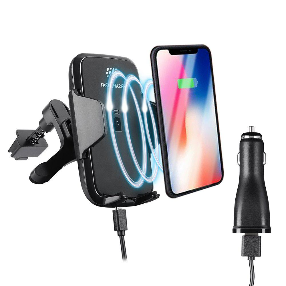 siroflo F12 Wireless Fast Car Charger - BLACK