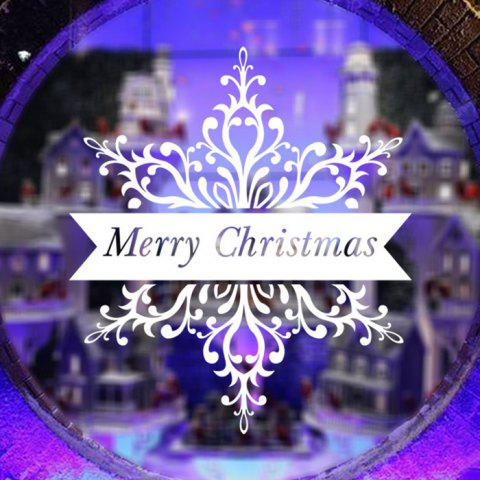 Removable Merry Christmas Pattern Decal Wallpaper Wall Sticker for Home Decor - WHITE
