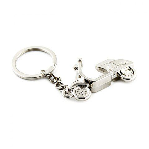 Motorcycle Style Key Ring for Decoration - SILVER