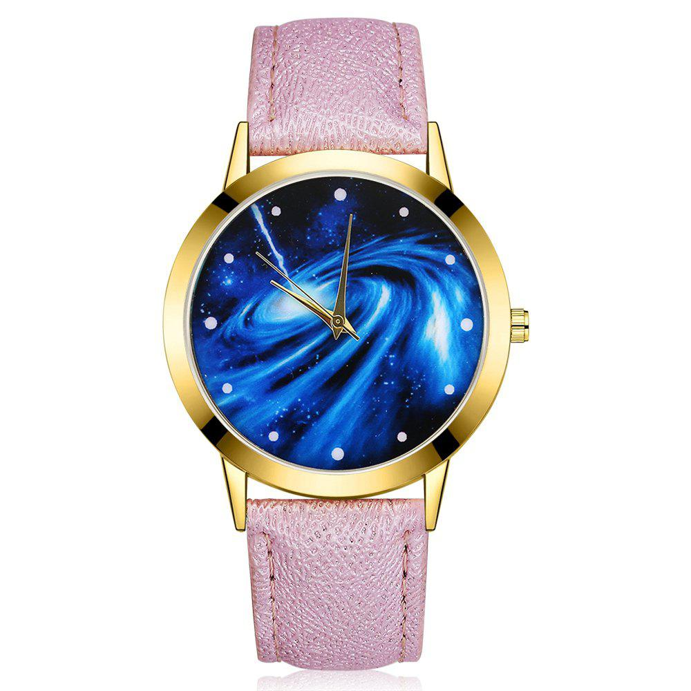 GAIETY G376 Women's Leather Strap Starry Sky Wrist Watch - PURPLE