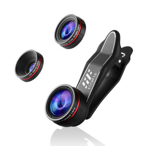 siroflo 3 in 1 Cell Phone Camera Lens Kit - BLACK