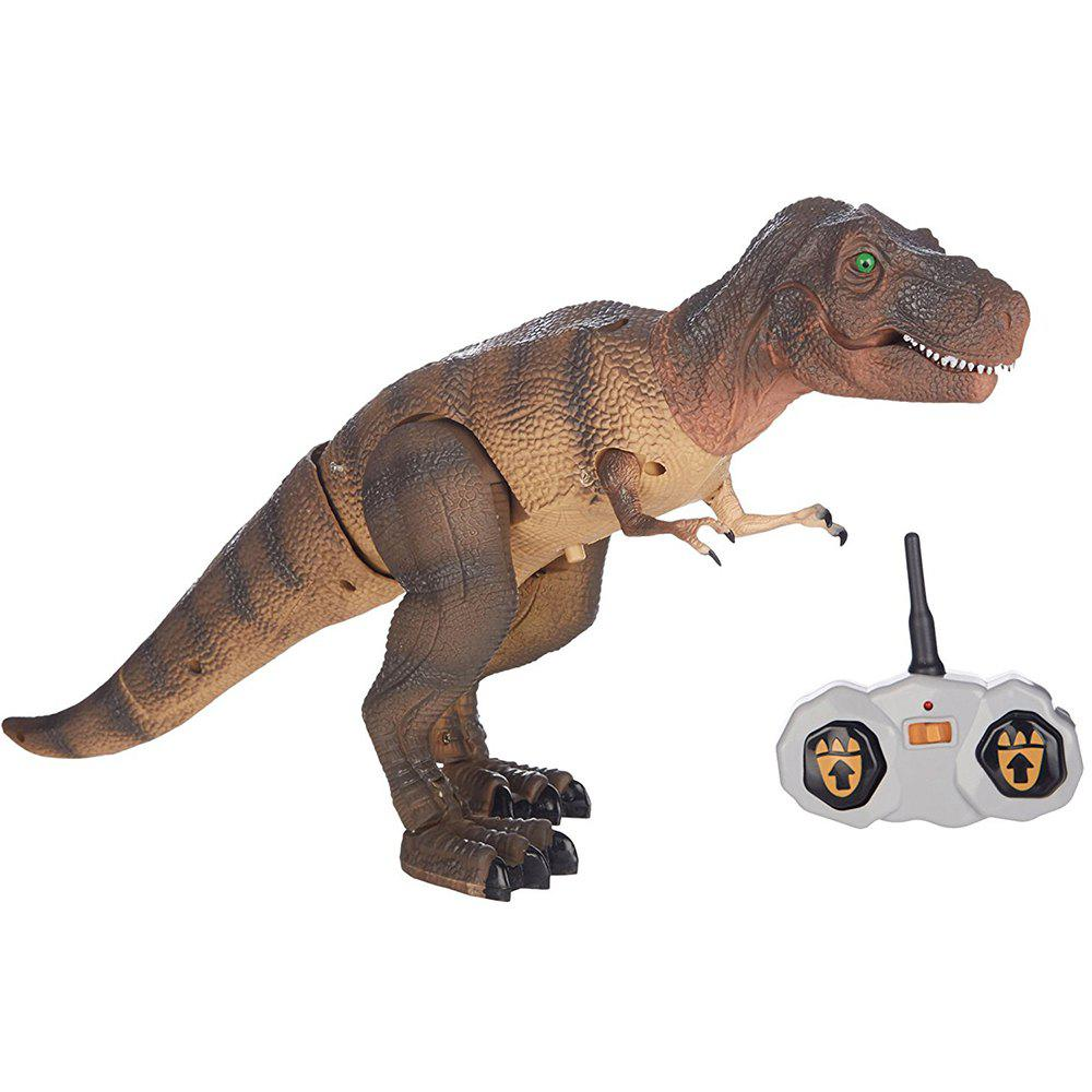 Dinosaur Toy With Remote Control - BROWN