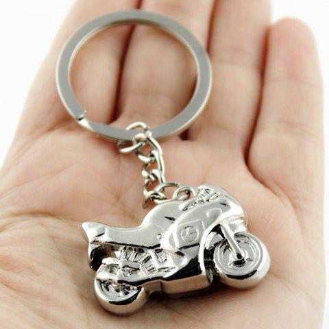 Stylish Keychain Male Motorcycle Decoration Toy - SILVER