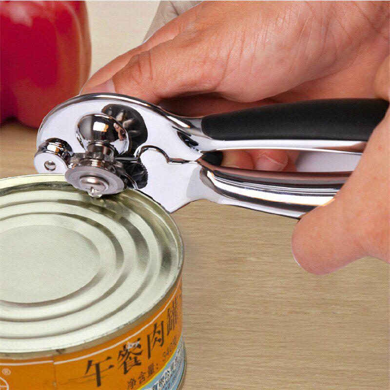 Zinc Alloy Can Opener  Multi Function - SILVER SIZE:16.5 X 4 X 5CM