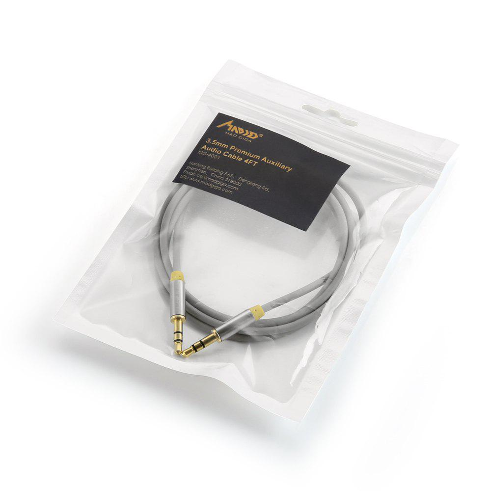 Madgiga Gold Plated 3.5MM Stereo Audio Cable - GRAY