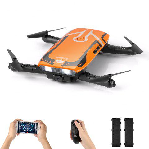 H818 6 Axis Gyro Remote Control Quadcopter 720P WiFi Camera - ORANGE WITH 2 BATTERIES