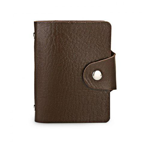 DUDINI Stylish Business PU Credit Card Holder - BROWN