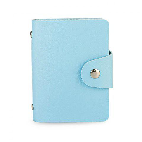 DUDINI Stylish Business PU Credit Card Holder - BLUE