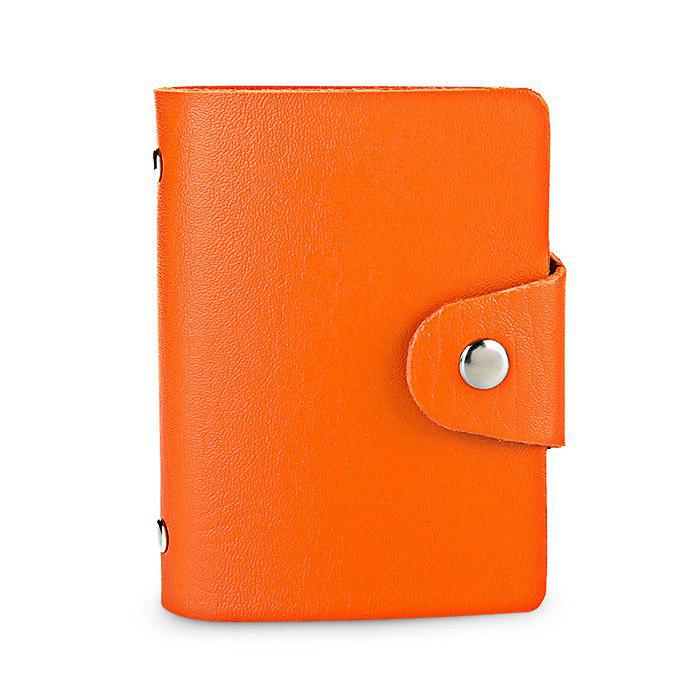 DUDINI Stylish Business PU Credit Card Holder - ORANGE