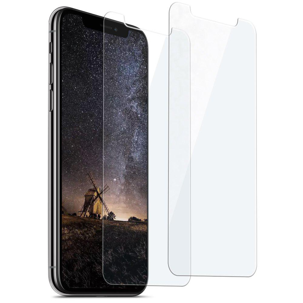 siroflo Curved Tempered Glass Screen Protector Film for iPhone X 2PCS - TRANSPARENT