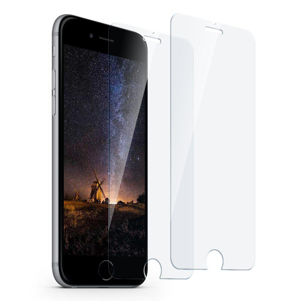 siroflo Tempered Glass Screen Protector for iPhone 8 Plus / 7 Plus / 6 Plus 2PCS - TRANSPARENT