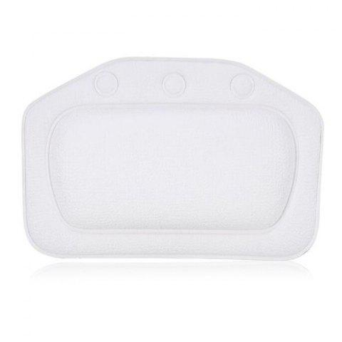 Comfortable Spa Bath Pillow with Suction Cups - WHITE