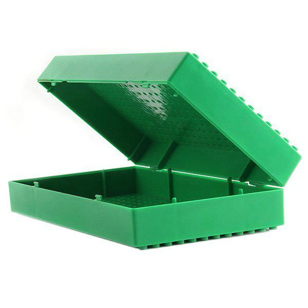 Multifunctional Storage Box for Building Blocks, Green
