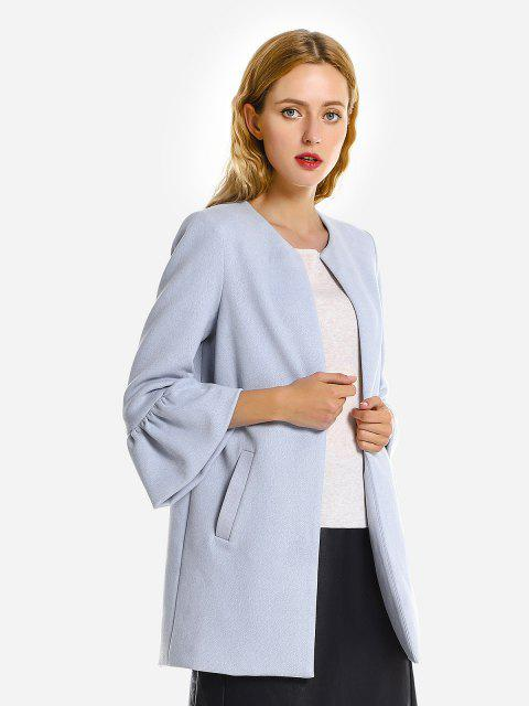 ZAN.STYLE Bell Sleeves Coat - LIGHT BLUE XL