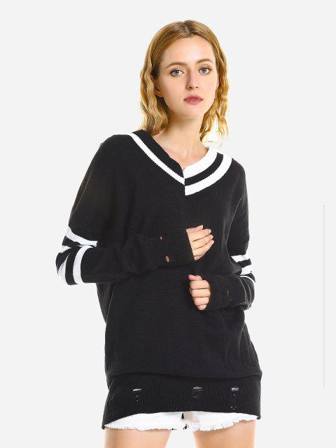 ZAN.STYLE V-Neck Casual Loose Sweater