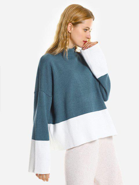 ZAN.STYLE Loose Pullover Sweater - BLUE ONE SIZE