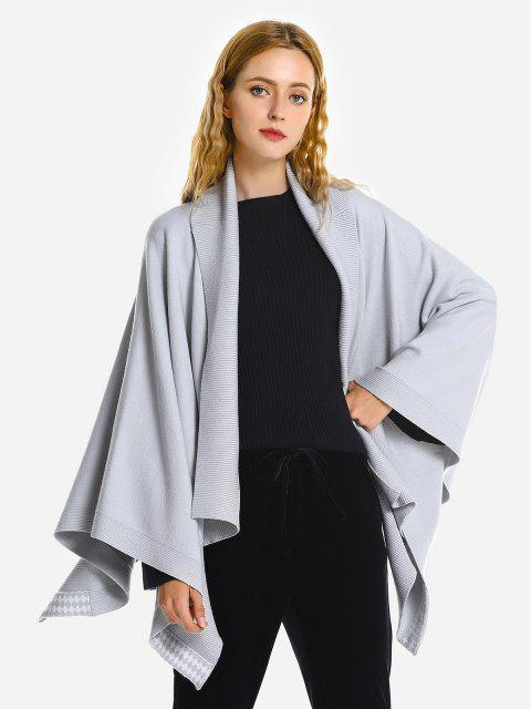 ZAN.STYLE Turndown Collar Cape Coat - GRAY ONE SIZE(FIT SIZE XS TO M)