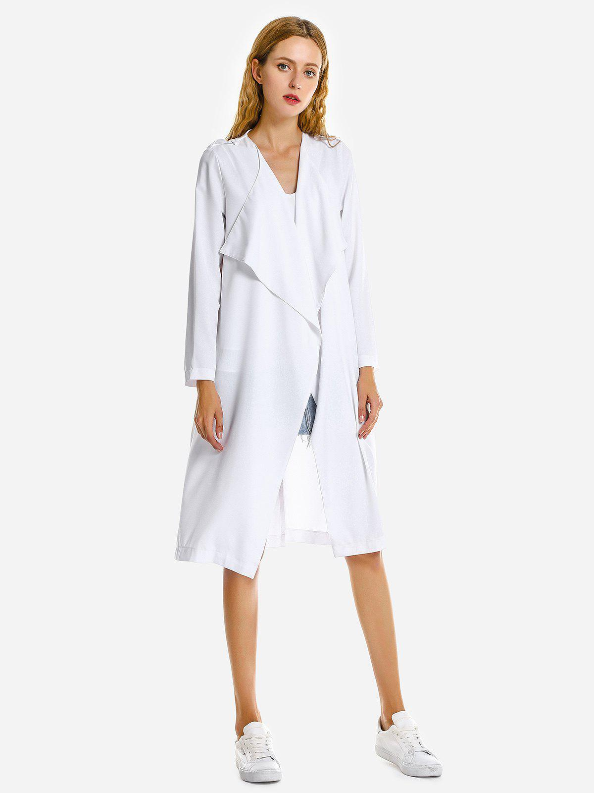ZAN.STYLE Casual Loose Coat - WHITE M