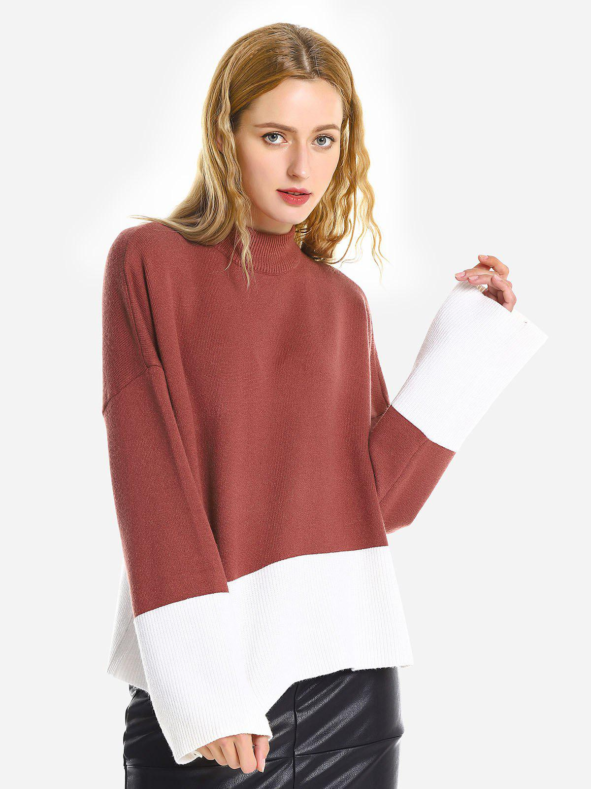 Pullover Ample - Brique rouge ONE SIZE