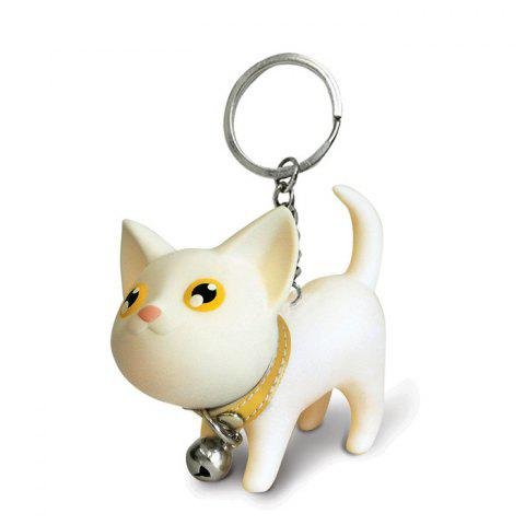 Cartoon Cat Couple Style Keychain Mobile Phone Car Pendent - WHITE