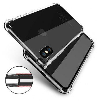 Transparent Crystal Clear Silicone Protection Cover for iPhone - BLACK IPHONE 6 PLUS