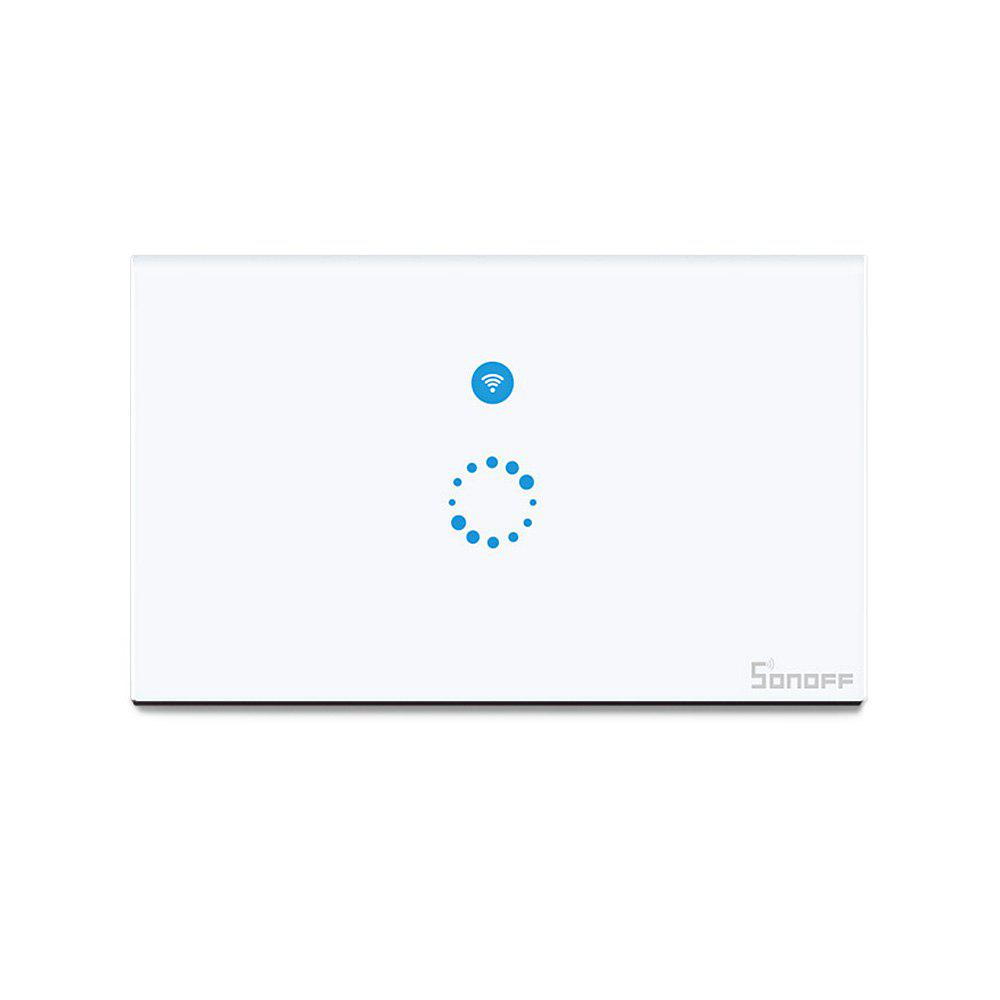 SONOFF Commutateur de Synchronisation de Mur de Télécommande Sans Fil de Panneau de Contact de WiFi Application Intelligent d'Accueil - Blanc US VERSION