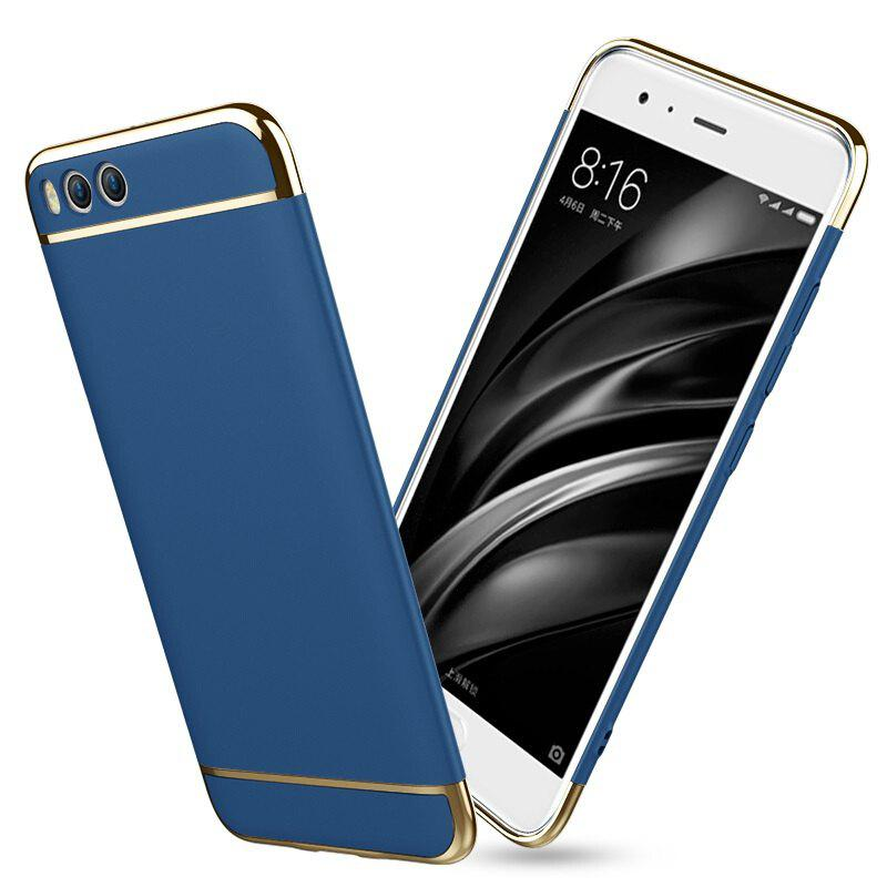 Three-stage Ultra Slim Hard Phone Case Non-slip Matte Surface Electroplated Frame for Xiaomi Mi 6