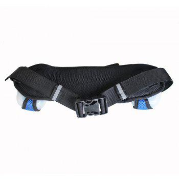 Hydration neoprene running belt with 2 bottles -  BLACK