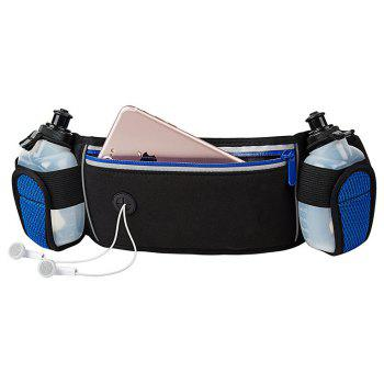 Water-resistant Running Bag Belt with 2 Bottles - BLACK