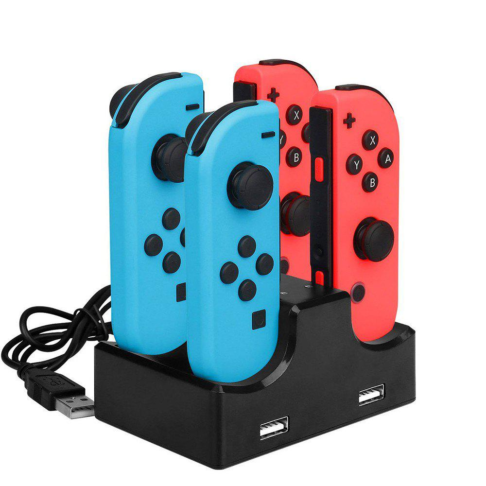 IPLAY Four Charging Dock Charger Stand for Nintendo Switch Joy-Con - BLACK