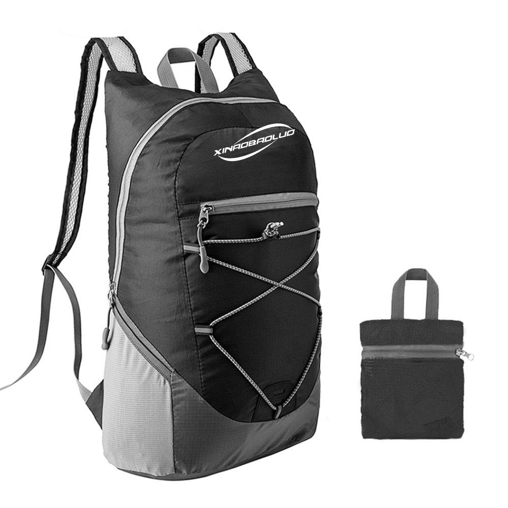 XINAOBAOLUO Ultra Lightweight Outdoor Hiking Backpack 20L for Travel Camping Hiking School Sports - BLACK