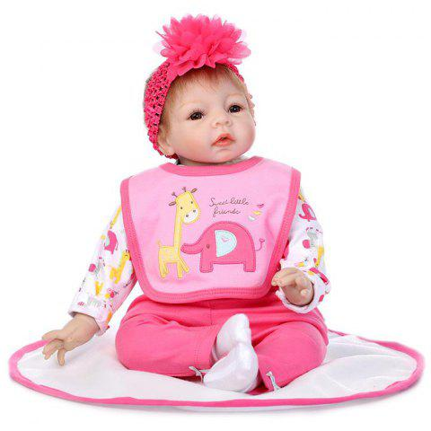 NPK Cute Soft Silicone Sleeping Help Baby Doll Toy - COLORMIX