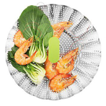 zanmini ZS3 Stainless Steel Collapsible Food Steamer Basket - STAINLESS STEEL