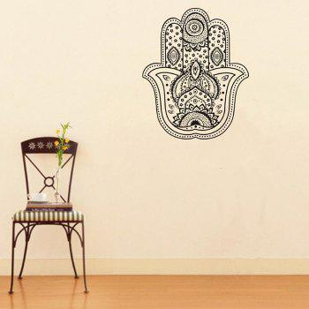 DSU Flower Pattern Living Room Wall Decal Sticker - BLACK 57X70CM